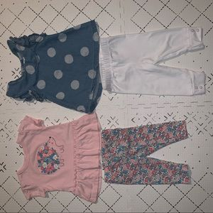 Baby girl carter's outfits 3-6 months